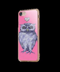 I Love Owls - iPhone 7 / iPhone 8 Carcasa Transparenta Silicon