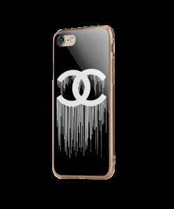 Chanel Drips - iPhone 7 / iPhone 8 Carcasa Transparenta Silicon