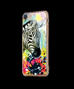 Zebra Splash - iPhone 7 / iPhone 8 Carcasa Transparenta Silicon