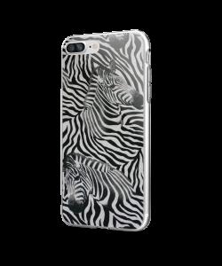 Zebra Pattern - iPhone 7 Plus / iPhone 8 Plus Carcasa Transparenta Silicon