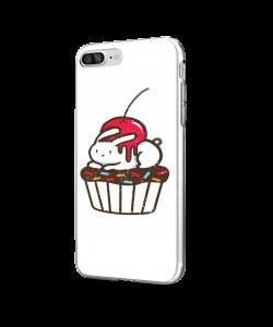 Cherry Bunny - iPhone 7 Plus / iPhone 8 Plus Carcasa Transparenta Silicon
