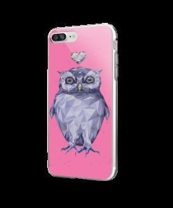 I Love Owls - iPhone 7 Plus / iPhone 8 Plus Carcasa Transparenta Silicon