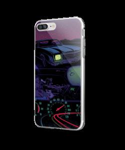 Night Ride - iPhone 7 Plus / iPhone 8 Plus Carcasa Transparenta Silicon