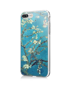 Van Gogh - Branches with Almond Blossom - iPhone 7 Plus / iPhone 8 Plus Carcasa Transparenta Silicon