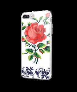 Red Rose - iPhone 7 Plus / iPhone 8 Plus Carcasa Transparenta Silicon
