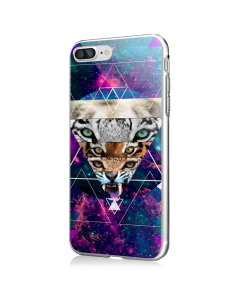 Tiger Swag - iPhone 7 Plus / iPhone 8 Plus Carcasa Transparenta Silicon
