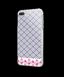Quatrefoil - iPhone 7 Plus / iPhone 8 Plus Carcasa Transparenta Silicon