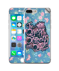 Queen of the Streets - Floral Blue - iPhone 7 Plus / iPhone 8 Plus Skin