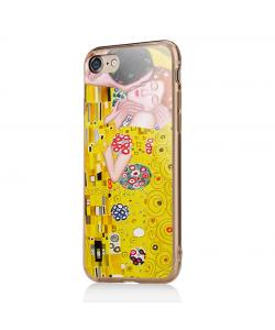 Gustav Klimt - The Kiss - iPhone 7 / iPhone 8 Carcasa Transparenta Silicon