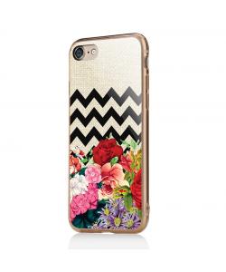Floral Contrast - iPhone 7 / iPhone 8 Carcasa Transparenta Silicon