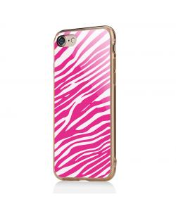 Pink Zebra - iPhone 7 / iPhone 8 Carcasa Transparenta Silicon