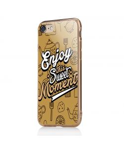 Enjoy This Sweet Moment - iPhone 7 / iPhone 8 Carcasa Transparenta Silicon