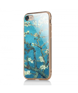 Van Gogh - Branches with Almond Blossom - iPhone 7 / iPhone 8 Carcasa Transparenta Silicon