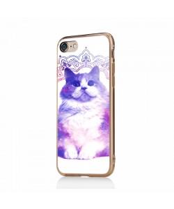 Galaxy Cat - iPhone 7 / iPhone 8 Carcasa Transparenta Silicon