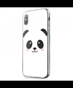 Kawaii Panda Face - iPhone X Carcasa Transparenta Silicon
