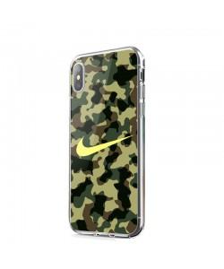 Camo Nike - iPhone X Carcasa Transparenta Silicon