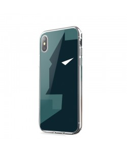 Batman Grey & Black - iPhone X Carcasa Transparenta Silicon