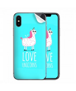 Love Unicorns - iPhone X Skin