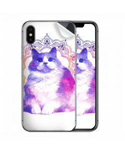 Galaxy Cat - iPhone X Skin