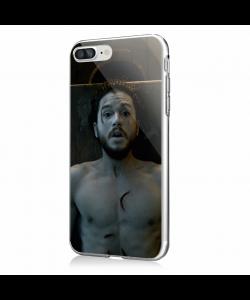 Jon Snow 3 - iPhone 7 Plus / iPhone 8 Plus Carcasa Transparenta Silicon