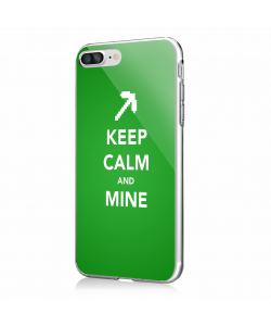 Keep Calm and Mine - iPhone 7 Plus / iPhone 8 Plus Carcasa Transparenta Silicon