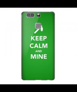 Keep Calm and Mine - Huawei P10 Lite Carcasa Transparenta Silicon