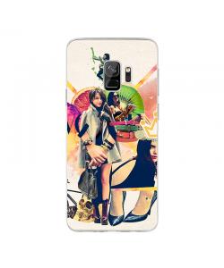 Kiwi, Crown and Good Shoes - Samsung Galaxy S9 Carcasa Transparenta Silicon