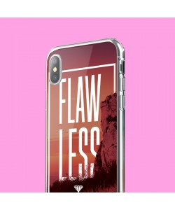 Flawless - iPhone X Carcasa Transparenta Silicon