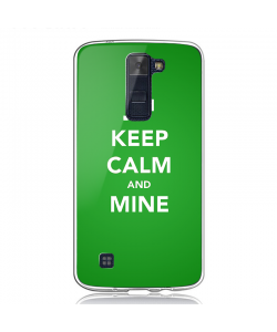 Keep Calm and Mine - LG K8 Carcasa Transparenta Silicon