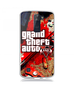 Grand Theft Auto V - LG K8 Carcasa Transparenta Silicon