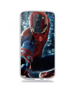 Spiderman 2 - LG K8 2017 Carcasa Transparenta Silicon