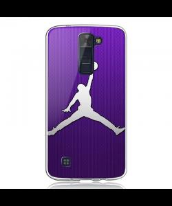 Purple Jordan - LG K8 2017 Carcasa Transparenta Silicon