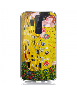 Gustav Klimt - The Kiss - LG K8 Carcasa Transparenta Silicon