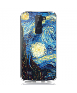 Van Gogh - Starry Night - LG K8 Carcasa Transparenta Silicon