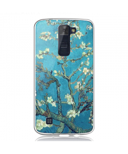Van Gogh - Almond Blossom - LG K8 Carcasa Transparenta Silicon