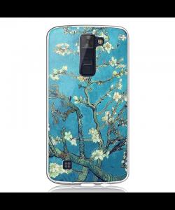 Van Gogh - Almond Blossom - LG K8 2017 Carcasa Transparenta Silicon
