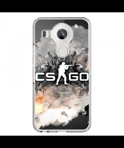 CS Go 4 - LG Nexus 5X Carcasa Transparenta Silicon