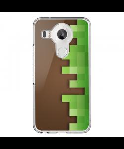 Minecraft - LG Nexus 5X Carcasa Transparenta Silicon