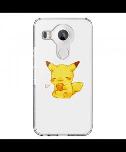 Pikachu - LG Nexus 5X Carcasa Transparenta Silicon