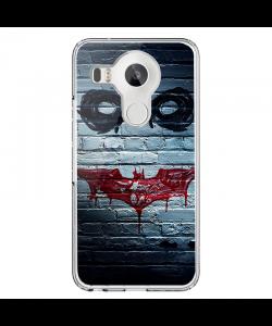 Batman/The Joker - LG Nexus 5X Carcasa Transparenta Silicon