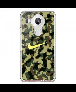 Camo Nike - LG Nexus 5X Carcasa Transparenta Silicon