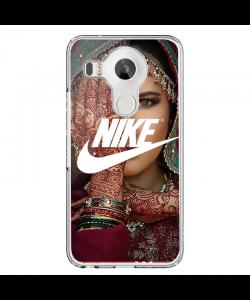 Indian Nike - LG Nexus 5X Carcasa Transparenta Silicon