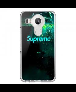 Nike X Supreme - LG Nexus 5X Carcasa Transparenta Silicon