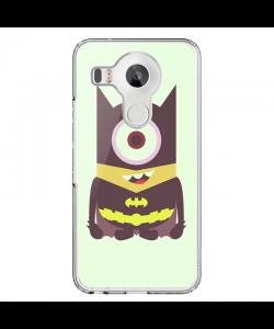 Minion Batman - LG Nexus 5X Carcasa Transparenta Silicon