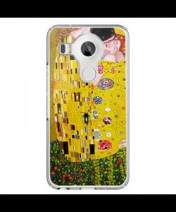 Gustav Klimt The Kiss - LG Nexus 5X Carcasa Transparenta Silicon