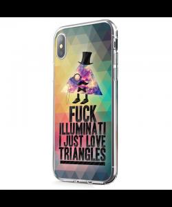 Love Triangles - iPhone X Carcasa Transparenta Silicon