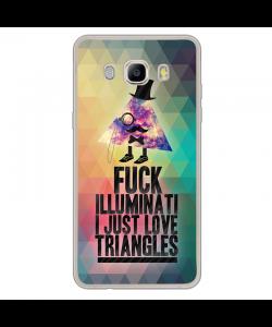 Love Triangles - Samsung Galaxy J7 Carcasa Silicon Transparent