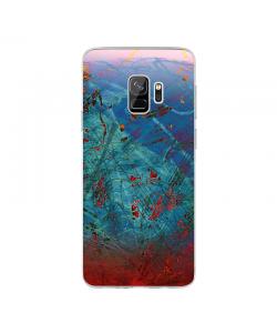 Metallic Scratch - Samsung Galaxy S9 Carcasa Transparenta Silicon