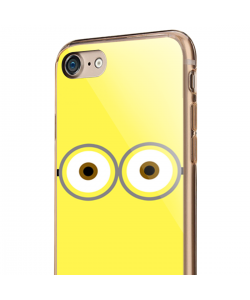 Minion Eyes - iPhone 7 / iPhone 8 Carcasa Transparenta Silicon