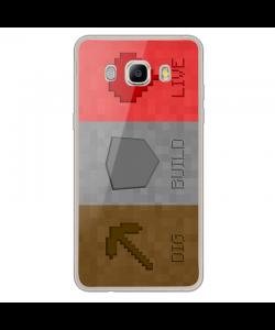 Minecraft 2 - Samsung Galaxy J7 2017 Carcasa Transparenta Silicon